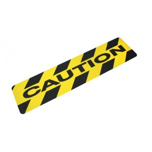 Anti slip traptrede fijne korrel-Caution-150x610 mm